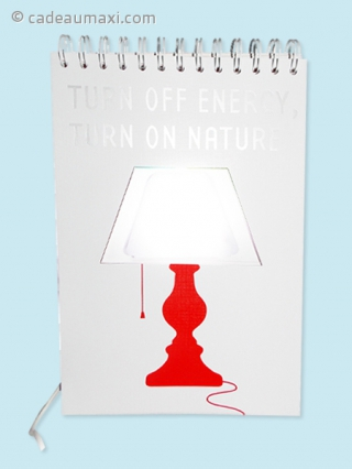 Lampe de chevet en forme de bloc-notes